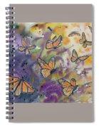 Watercolor- Monarchs In Flight Spiral Notebook