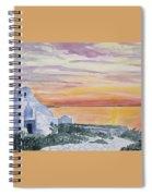 Watercolor - Mykonos Sunset Spiral Notebook