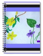 Watercolor Of Wild Flowers Spiral Notebook