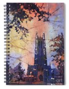 Watercolor Painting Of Duke Chapel On The Duke University Campus Spiral Notebook