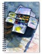 Watercolor Pallet Spiral Notebook