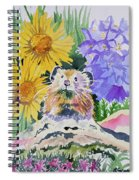 Watercolor - Pika With Wildflowers Spiral Notebook