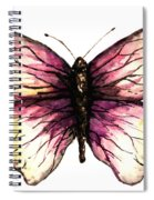 Watercolor Pink Butterfly Spiral Notebook