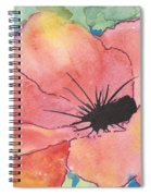 Watercolor Poppy Spiral Notebook