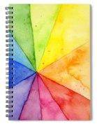Watercolor Rainbow Beachball Pattern Spiral Notebook
