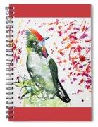 Watercolor - Rainbow Bearded Thornbill Spiral Notebook