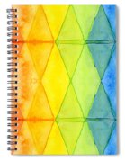 Watercolor Rainbow Pattern Geometric Shapes Triangles Spiral Notebook