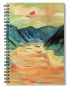 Watercolor River Scenery Spiral Notebook