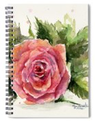 Watercolor Rose Spiral Notebook