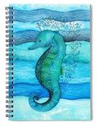 Watercolor Saehorse Spiral Notebook