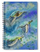 Watercolor - Sea Turtles Swimming Spiral Notebook