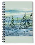 Watercolor - Snowy Winter Evening Spiral Notebook