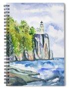 Watercolor - Split Rock Lighthouse Spiral Notebook
