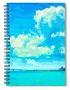 Watercolor Spring On Sarasota Bay Spiral Notebook