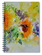 Watercolor Sunflowers Spiral Notebook