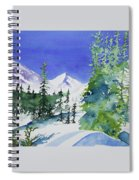 Watercolor - Sunny Winter Day In The Mountains Spiral Notebook