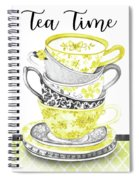 Watercolor Teacups-c Spiral Notebook
