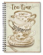 Watercolor Teacups-e Spiral Notebook