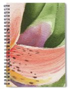 Watercolor Tiger Lily Dance Of Petals Close Up  Spiral Notebook