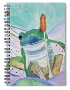 Watercolor - Tree Frog Spiral Notebook