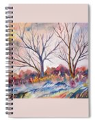 Watercolor - Trees And Woodland Meadow Spiral Notebook