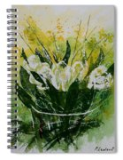 Watercolor Tulips Spiral Notebook