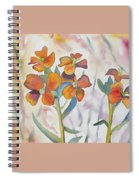 Watercolor - Wallflower Wildflowers Spiral Notebook