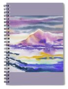 Watercolor - Winter Arctic Impression Spiral Notebook