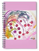 Watercolor - Winter Berry Abstract Spiral Notebook