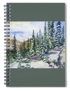 Watercolor - Winter Snow-covered Landscape Spiral Notebook