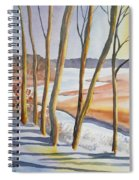 Watercolor - Winter Sunrise Spiral Notebook