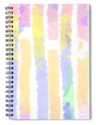 Watercolour Abstract Strips 2 Spiral Notebook