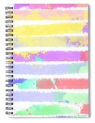 Watercolour Abstract Strips Spiral Notebook