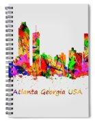 Watercolour Art Print Of The Skyline Of Atlanta Georgia Usa Spiral Notebook