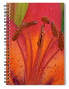 Watered Lily Spiral Notebook