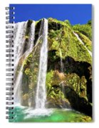 Waterfal Krcic In Knin Turquoise Stream Spiral Notebook