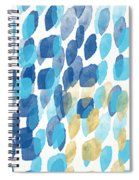 Waterfall- Abstract Art By Linda Woods Spiral Notebook