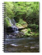 Waterfall And Mountain Creek Spiral Notebook