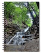 Waterfall And Natural Gas Spiral Notebook