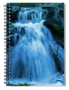 Waterfall At Finch Arboretum Spiral Notebook