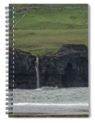Waterfall At The Cliffs Of Moher Spiral Notebook