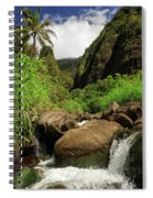 Waterfall At The Iao Needle Spiral Notebook