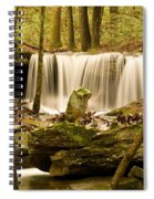 Waterfall At The Ruins Spiral Notebook