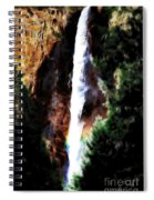 Waterfall At Yosemite Spiral Notebook