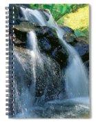 Waterfall Close-up Spiral Notebook