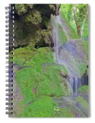 Waterfall Details Spiral Notebook