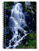 Waterfall Flowing And Ebbing Spiral Notebook