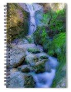Waterfall In Soft Dream. Spiral Notebook