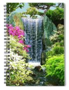 Waterfall In Spring Spiral Notebook