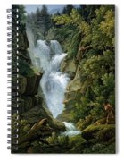 Waterfall In The Bern Highlands Spiral Notebook